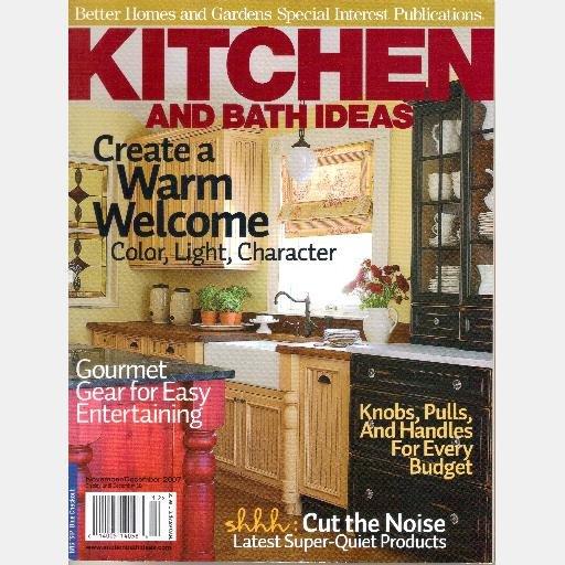 BETTER HOMES GARDENS KITCHEN AND BATH IDEAS November December 2007 Special Interest Magazine