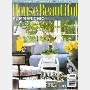 HOUSE BEAUTIFUL August 2004 Magazine Mori Art Museum Thomas O'Brien Jeffrey Bilhuber Kelly Wearstler