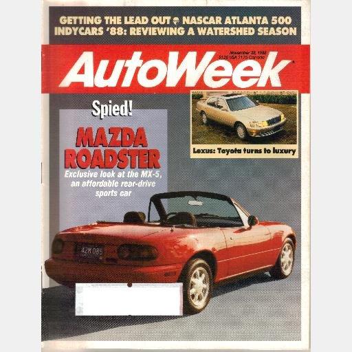 AUTOWEEK November 28 1988 Magazine MAZDA MX5 MX-5 ROADSTER Penske PC17 SAAB 900 CD