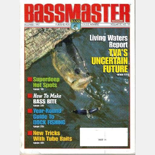 BASSMASTER December 1997 Magazine Volume 30 No 10 TVA SHAW GRIGSBY Shallow Water Electronics Course