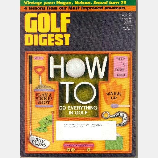 GOLF DIGEST March 1987 Magazine TOM Watson THE WAGGLE Jack Nicklaus Most Memorable Shot Bob Toski