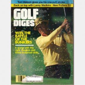 GOLF DIGEST August 1983 Magazine SAM SNEAD Tom Watson One-Putt stroke Lanny Wadkins