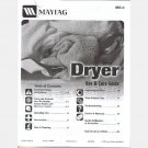 MAYTAG Ensignia Electric GAS Dryer USE CARE INSTALLATION GUIDE MANUAL 2006