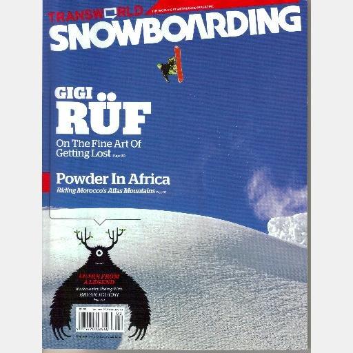 Transworld SNOWBOARDING February 2010 Magazine Gigi Rüf Morocco Bryan Iguchi Casper Bowl