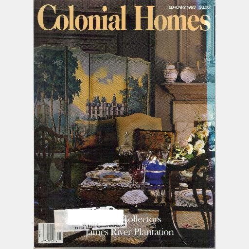 COLONIAL HOMES February 1993 Magazine James River Plantation BRANDON Mount Vernon Temple Learning