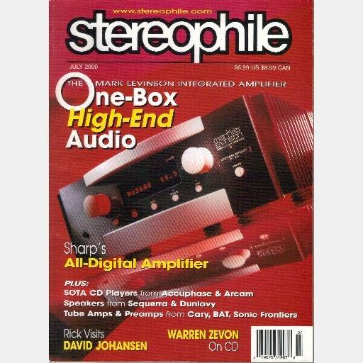STEREOPHILE July 2000 Vol 23 No 7 Magazine Mark Levinson Integrated Amp DAVID JOHANSEN Warren Zevon