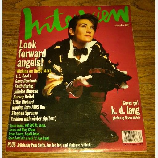 INTERVIEW December 1992 K D Lang Stephen Sprouse Gena Rowlands Keith Haring LL Cool J