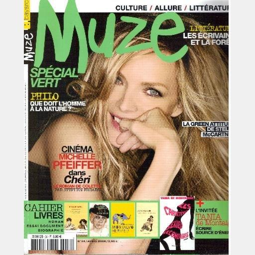 Magazine MUZE Bayard Avril April 2009 No 54 MICHELLE PFEIFFER Stella McCartney Germaine Tillion