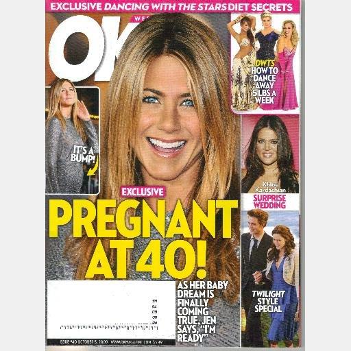 OK! Weekly 40 October 5 2009 Jen Aniston Pregnant 40 Khloe Kardashian Twilight Special