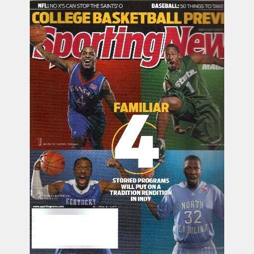 SPORTING NEWS November 9 2009 magazine KALIN LUCAS Ed Davis SHERRON COLLINS Patrick Patterson