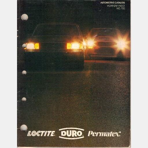 LOCTITE DURO PERMATEX Automotive Catalog Weatherly Index No 732 1983