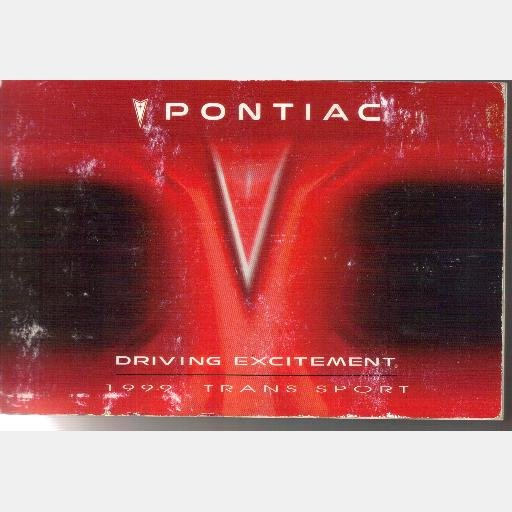 1999 Pontiac Trans Sport Owners Manual Owner book guide