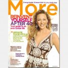 MORE April 2007 Magazine VIRGINIA MADSEN Bobbi Brown antiaging tricks Rosanne Cash Laurie David