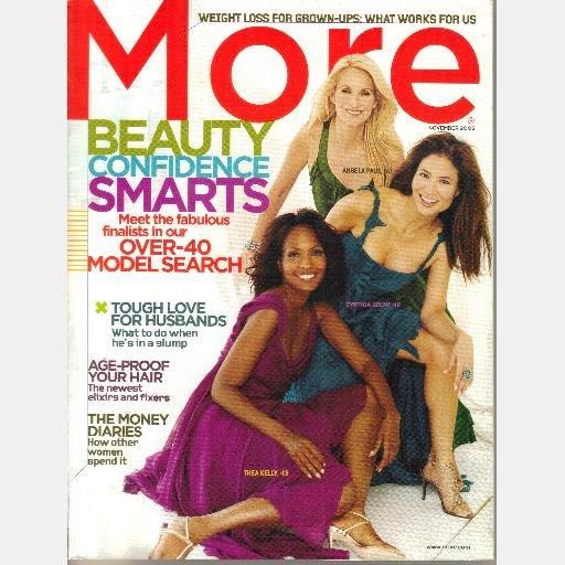 MORE November 2005 Magazine Angela Paul Cynthia Gouw Thea Kelly Angela Himsel Electra Shelton