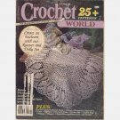 CROCHET WORLD October 1988 Magazine Dawn Thompson Crochet lace Doily Miss Japan doll
