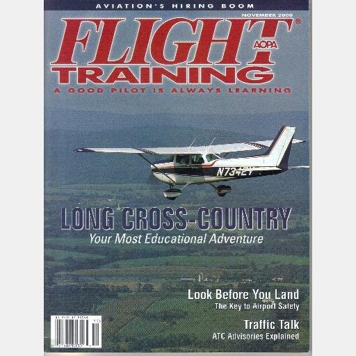 AOPA Flight Training November 2000 Magazine Long Cross Country Vol 12 No 11