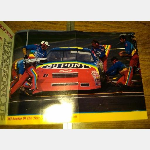 Jeff Gordon POSTER 1993 Rookie of the Year and his Racing Team 11 X 15
