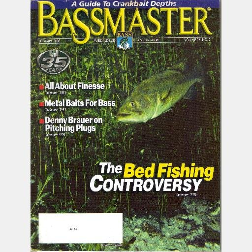 BASSMASTER February 2003 Magazine Volume 36 No 2 Denny Brauer Pitching Plugs