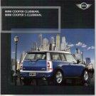 MINI COOPER Clubman Mini Cooper Clubman S 2007 Catalog Sales Brochure Book