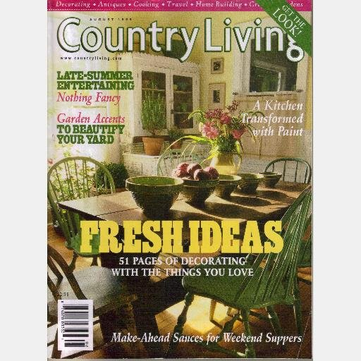 COUNTRY LIVING August 1999 John Grace Mackeral Cove ME Jeanne Maher Monique Keegan Granville OH