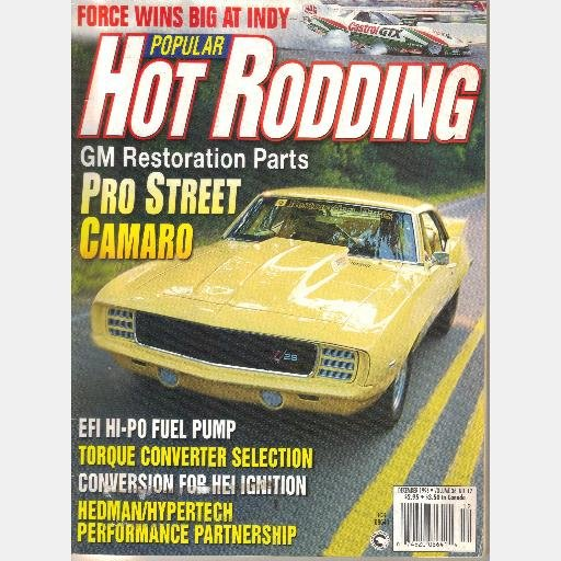 POPULAR HOT RODDING December 1996 Magazine GM Restoration Parts Camaro yellow Scott Kramer Pontiac