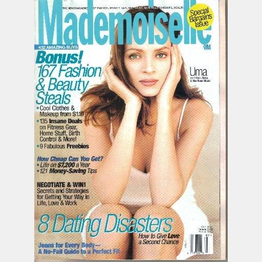 MADEMOISELLE July 1998 Magazine UMA THURMAN COVER