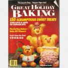 WOMAN'S DAY GREAT HOLIDAY BAKING December 1990 Teddy Bread Family Russian Pistachio Pudding
