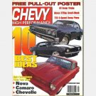 Chevy High Performance August 2000 Magazine Brent Kirk Street 66 Chevy II Ray Sanchez SuPer Camaro