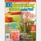 BETTER HOMES and GARDENS Creative Collection 100 DECORATING IDEAS Under $100 Fall 2005 2006 Magazine