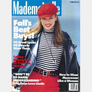 MADEMOISELLE October 1992 Magazine MILLA JOVOVICH cover