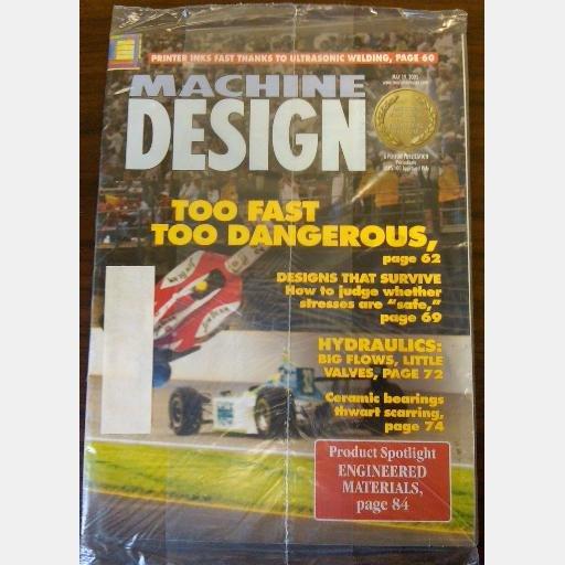 MACHINE DESIGN May 19 2005 magazine ceramic bearings Too fast Too Dangerous