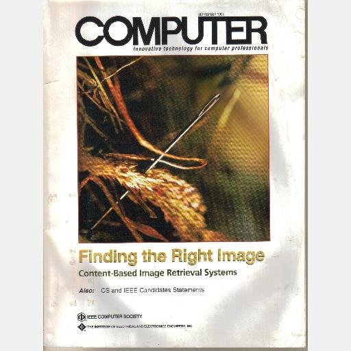 COMPUTER September 1995 magazine IEEE Finding the Right Image Content Based Retrieval Systems