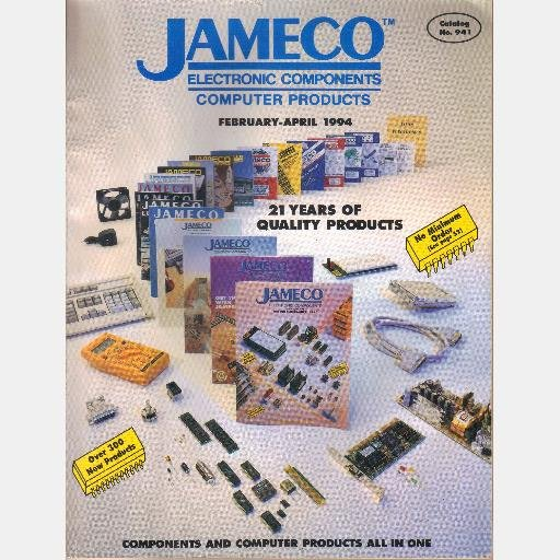 JAMECO catalog February April 1994 No 941 Electronic Components Computer Products