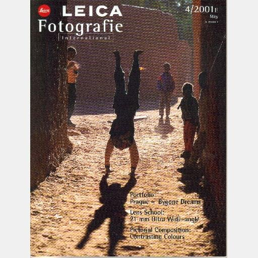 Leica Fotografie International May 2001 E 4 2001E magazine PRAGUE Pierre Alain Treyvaud Angleo Bozac