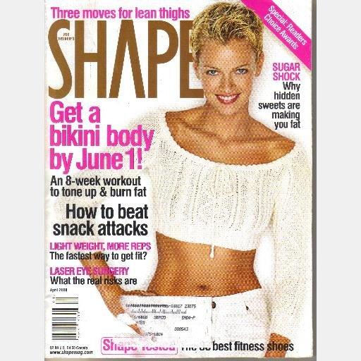 SHAPE April 2000 Magazine SARAH O'HARE MURDOCH Cover