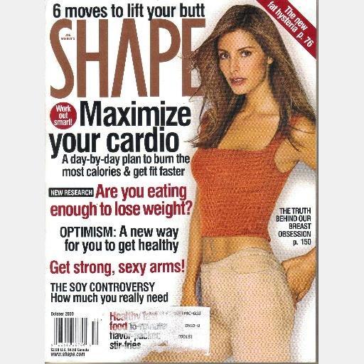 SHAPE October 2000 Magazine ELSA BENITEZ Cover