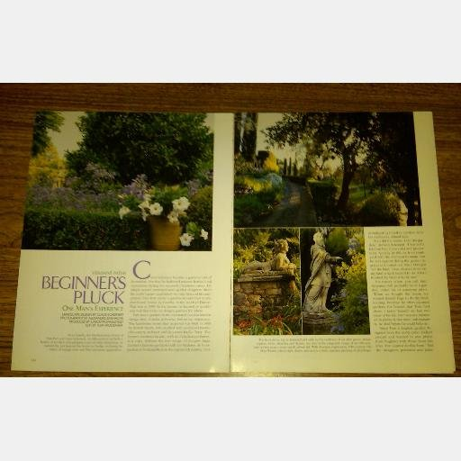 VERANDA magazine article BEGINNER'S PLUCK Claus Scheinert La Casella Tom Parr France