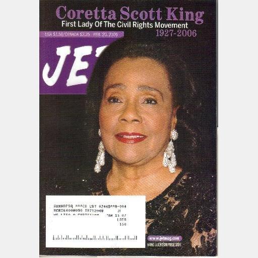 JET February 20 2006 Magazine Coretta Scott King First Lady of the Civil Rights Movement 1927 2006