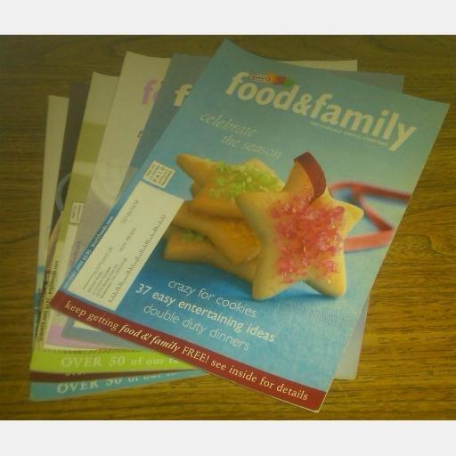 KRAFT FOOD & FAMILY Magazine lot 9 issues 2004 2005 2008
