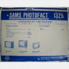 SAMS PHOTOFACT 1325 1973 Sylvania CL2351WR2 Sony KV-1710 KV1720 Wards Airline GAI-11253A/B