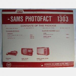 SAMS PHOTOFACT 1303 March 1973 Sears 564 40050100 Wards Airline Panasonic TR003 TP180C
