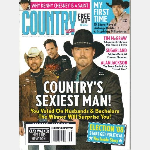 COUNTRY WEEKLY September 22 2008 Chuck Wicks TRACEE ADKINS Toby Keith Gary Allen Tim McGraw