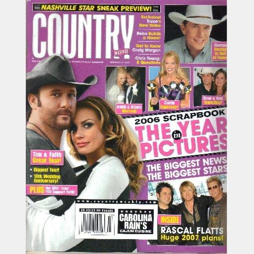 COUNTRY WEEKLY January 15 2007 Craig Morgan Rascal Flatts Chris Young Keith Nicole Reba