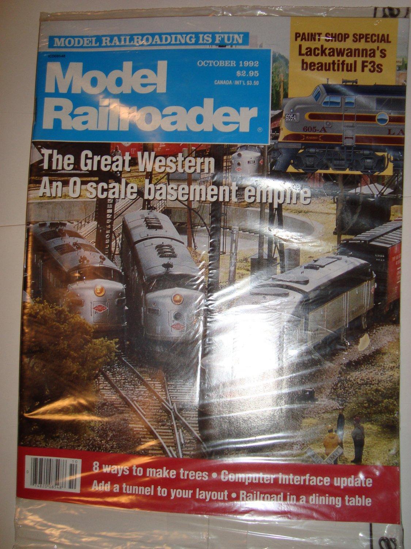 MODEL RAILROADER October 1992 Vol 59 No 10 Magazine Great Western O scale Lackawanna F3 NEW SEALED