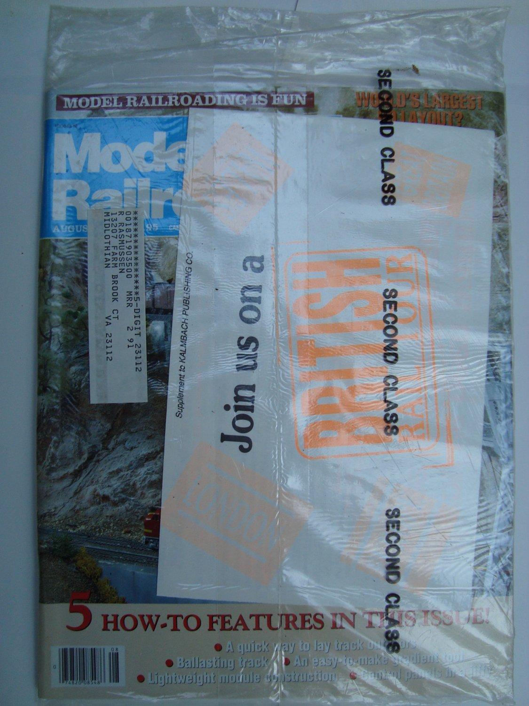 MODEL RAILROADER August 1990 Vol 57 No 8 N scale Burlington Northern Spring Creek Sierra Pacific