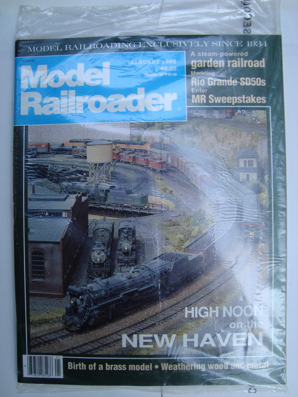 MODEL RAILROADER January 1992 Vol 59 No 1 High Noon on the New Haven Rio Grande SD50