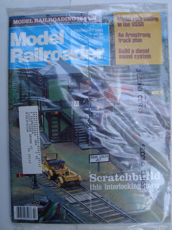 MODEL RAILROADER February 1991 Vol 58 No 2 Port of Los Angeles SDX-1 HO interlocking tower