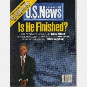 US News & World Report February 2 1998 BILL CLINTON IS HE FINISHED Monica POPE JOHN PAUL II in CUBA