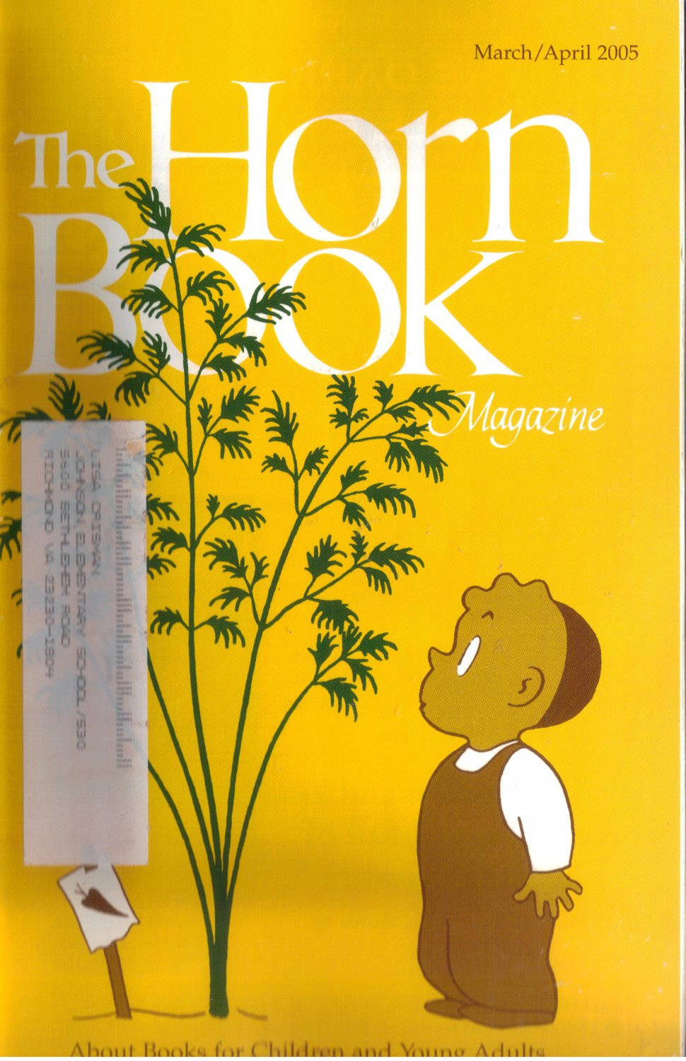The Horn Book Magazine May June 2005 Volume 81 Issue 3 Douglas Florian mammalabilia cover art