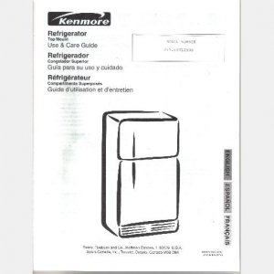 Sears Kenmore Refrigerator Repair Parts on freezer diagram